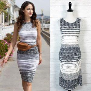 Athleta • Striped Sleeveless Midi Dress M
